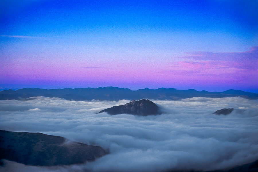 Bishop Peak and Fog (LE)