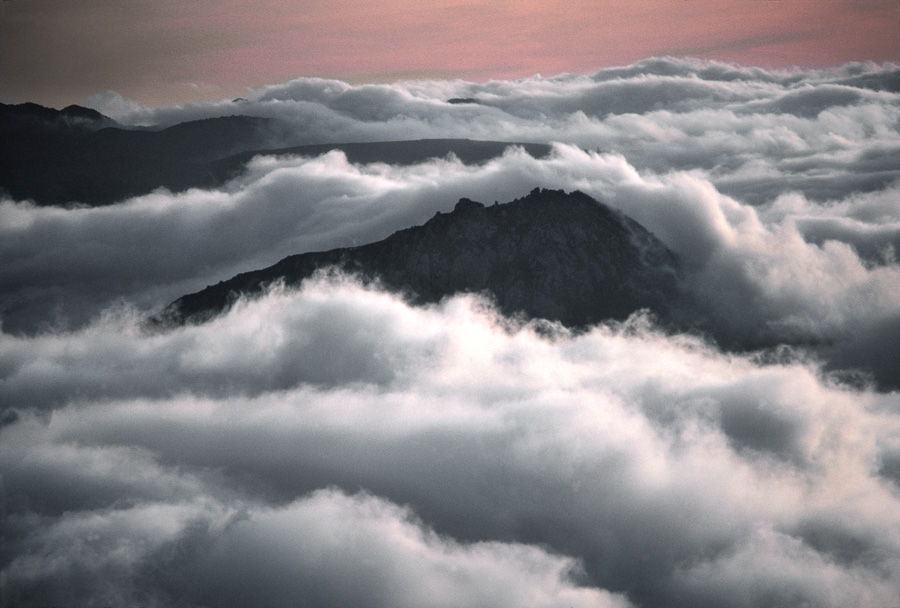 Fog Over Bishop Peak