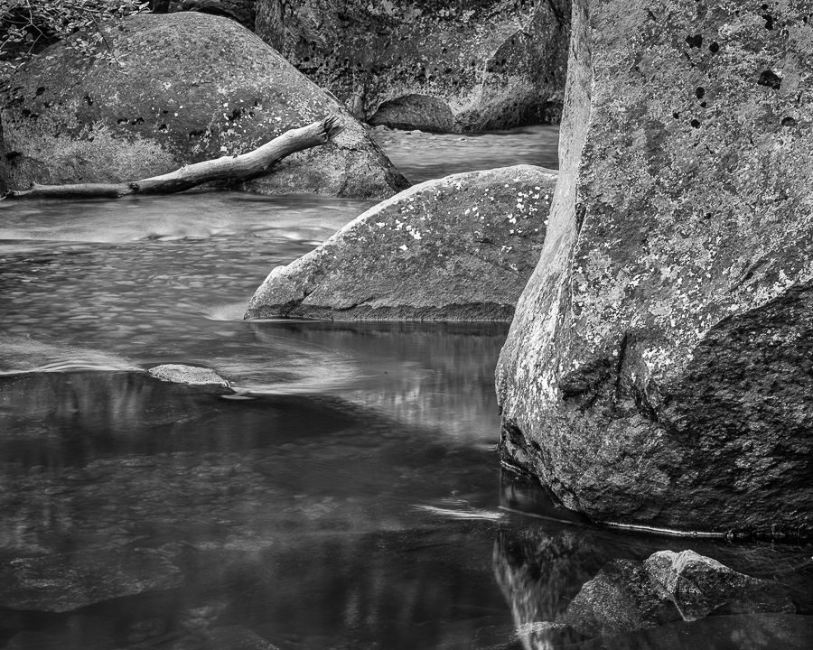 Boulders and Merced River (•)